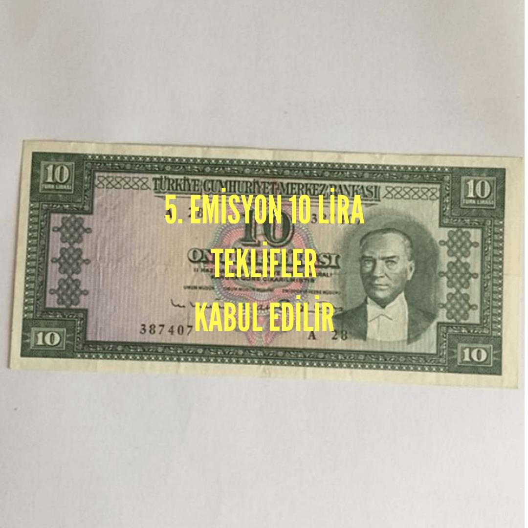 Photo of 5.Emisyon 6.tertip 10 lira