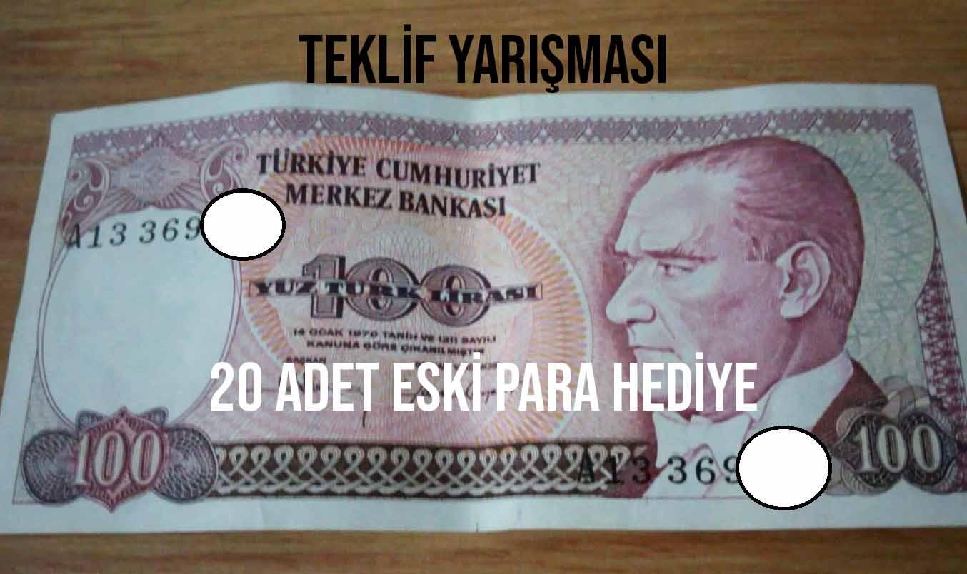 Photo of Eski para teklif yarışması